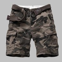 Wholesale military clothing army resale online - Premium Quality Camouflage Cargo Shorts Men Casual Military Army Style Beach Shorts Loose Baggy Pocket Shorts Male Clothes MX200324
