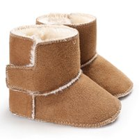 Wholesale baby girls winter stockings resale online - US STOCK Bottom Kids Baby Snow Prewalker Shoes Winter Warm Girl Cute Soft Sole Crib Boots