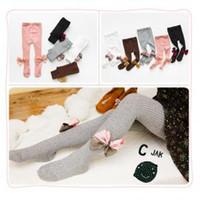 kızlar sıkı pantolon pantolon toptan satış-Yay Kızlar Külotlu Çorap Tayt elbise çorap kız çorap Bebek tozluk Çocuklar Kızlar için Dans Karışımları Çorap Tayt pantolon FFA1630