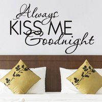 vinyl wandabziehbilder kuss gute nacht groihandel-