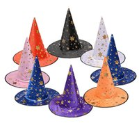 Wholesale accessories boy girls resale online - New design witch hat Cosplay Costume Accessories Halloween party props fancy ball witch cap