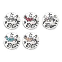 Wholesale jewelry believe for sale - Group buy Hot Crystal w001 Believe D mm mm Metal Snap Button For Bracelet Necklace Interchangeable Jewelry Women Accessorie Findings