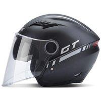 b kaskı toptan satış-Ücretsiz Kargo Andes B-639 çift lensler yarım yüz Motosiklet kask elektrikli bisiklet kaskları, anti-sis bisiklet kask