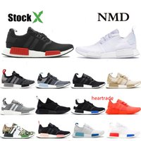 Wholesale glitch pack resale online - NMD R1 designer Bred japan triple black Glitch pack solid grey Camo running shoes men women runner trainers breathable sports sneakers