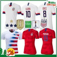 kits de fútbol de estados unidos al por mayor-4 estrellas Copa mundial de América 2019 Casa local HOMBRE mujer niños kit de fútbol Jersey 2020 Estados Unidos Estados Unidos LLOYD Fútbol de fútbol femenino Camiseta