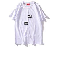 sıcak satış kadın t gömlek toptan satış-Suprême T Shirt mektubu baskı T-Shirt Misplaced kutusu logosu erkek kadın çift kısa kollu erkek moda trendi T Shirt yaz sıcak satmak tees