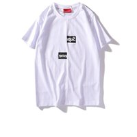 kastenhülsen großhandel-Suprême T-Shirts Briefdruck T-Shirts Verschobene Box Logo Männer Frauen Paar Kurzhülse Herrenmode Trend T-Shirts Sommer heißer Verkauf T-Shirts