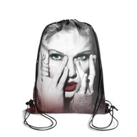 soğutma pop toptan satış-Taylor swift itibar pop music3Fashion kemer kemer sırt çantası, tasarım serin karakter ayarlanabilir dize paketi, açık için uygun