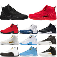 outlet store c68dd a5140 Nike Air Jordan Retro 12 AJ12 12 12s chaussures de basketball hommes Bulls  Michigan College Marine UNC NYC Gym Rouge Blé Gris Foncé Bordeaux séries ...