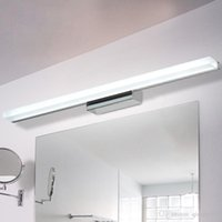 espejos de baño largos al por mayor-Ya 1,5M AC90-260V moderna cosmética de pared de acrílico LED Espejo de 0,4 M ~ lámpara de iluminación de baño envío libre impermeable