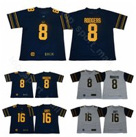 9ecf2ccb1 2018 2019 Men College California Golden Bears Jerseys 8 Aaron Rodgers 16  Jared Goff Jersey Football Home Navy Blue Away White High Quality