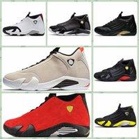 ingrosso aria retro 14-Nike Air jordan 14 Retro AJ AJ14 Classico 14 XIV Uomini scarpe outdoor Desert Sand DMP Ultimo colpo Indiglo Thunder Red Suede Oxidized Candy Cane Designer Sport Sneakers