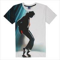 jackson vestuário venda por atacado-Moda mens designer de t shirts michael jackson imprimir marca casual tshirt moda algodão homens vestir top tee