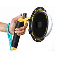 casa gopro hero venda por atacado-HERO7 / 6/5 Gopro Dome Port Lens Capa À Prova D 'Água Habitação Case + Máscara de Mergulho Capa Shell para Go Pro Hero 5 Preto máscara Subaquática