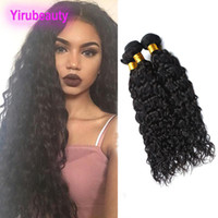 Wholesale wet waves human hair for sale - Group buy Brazilian Virgin Hair Extensions Pieces Water Wave Bundles Human Hair Weaves inch Hair Extensions Natural Color Wet And Wavy