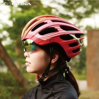 Wholesale uv materials resale online - CIGNA integrated molding goggles helmet multi color optional EPS PC material helmet with UV protection lenses safety cap