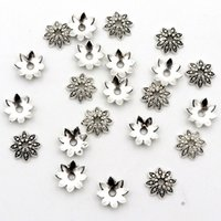 Wholesale flower findings jewelry for sale - Group buy 100Pcs Petals Flower Loose Sparer End Bead Caps for Jewelry Making Finding Diy Bracelet Accessories Component Supply