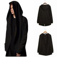 suikastçü inanç siyah ceket toptan satış-Assassin creed Kapüşonlu Sweatshirt Ile Siyah Kıyafeti Hip Hop Çiftler Hoodies Moda Ceket uzun Kollu Pelerin adamın Mont Dış Giyim