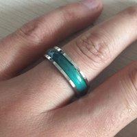 farbe pops ring großhandel-Pop Hohe Ustore8 Emaille Farbwechsel Mood Tracker Ring Verhalten und Emotionen, Wechselring Temperature Control Ring für Männer, Mädchen, Jungen Frauen