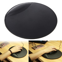 Wholesale leather wrist supports for sale - Group buy BGEKTOTH D Leather Mouse Pad with Wrist Rest Ergonomic Office Soft Sponge Support Mat