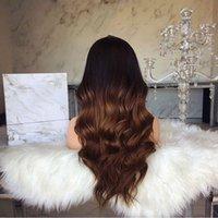 ingrosso coloranti chimici-Parrucca di vendita calda di scoperta di falsi capelli con parrucca anteriore in fibra di fibra chimica