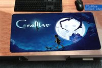 üst uç adet toptan satış-Coraline mousepad 700x400x3mm High-end Bilgisayar fare mat oyun gamepad pc gamer kilitli kenar oyun mousemat ped ofis padmouse