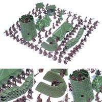 ingrosso figurine di azione plastica-Nuovo arrivo 3CM Army Combat Men Kid Toy Soldiers Militare di plastica Figurine Action Figure 10pcs / set