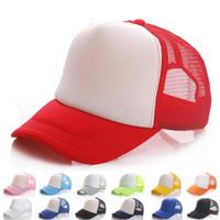 Wholesale baseball caps blanks resale online - Adult Mesh Blank Trucker Cap Patchwork Hat Summer Hip Hop Hat Baseball Caps Fashion outdoor sport Sunhats Visor AAA2013