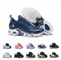 zapatillas de malla al por mayor-2019 New TN mens fashion running shoes tns negro Pink tns calzado deportivo mujer hombre Mesh White chaussures trainger designer sneakers 36-46