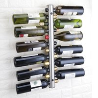 soporte para botellas de bar al por mayor-Promoción Creative Wine Rack Holders 12 Holes Home Bar Wall Grape Wine Bottle Holder Display Stand Rack Suspension Storage Organizer