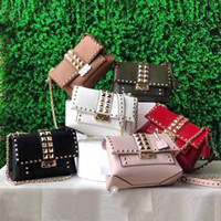 Wholesale bags mk for sale - Group buy Pop2019 Mk Xiabaobao Woman Genuine Leather Cece Rivet Package Bags Hand Bill Of Lading Shoulder Messenger