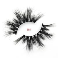precio de las pestañas 3d al por mayor-Precio al por mayor 3d pestañas de visón con logotipo privado 25 mm pestañas de visón estilo de paquete personalizado E81
