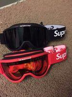 spor yarış camları toptan satış-Hızlı Kargo Sup Gözlükler Kayak Gözlüğü Siyah Kırmızı Motokros Gözlük Paintball CS Spor Için Yarış Koruyucu Dişli Bisiklet Maske