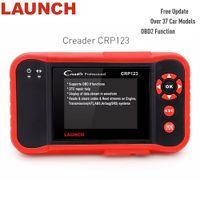 escáner de código srs al por mayor-Genuine Launch Creader CRP 123 obd 2 Code Reader Auto Herramienta de diagnóstico Actualización gratuita Motor / ABS / SRS / AT X431 Escáner PK Creader vii +
