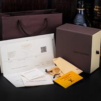 sarı kahverengi toptan satış-2018 Yüksek Qualtiy Marka Kemerler ambalaj kutusu moda sarı kırmızı Kemerler hediye Kutusu Için siyah kahverengi renk karton kutu A-550