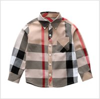 Wholesale baby boys clothes sale for sale - Group buy New Hot Sale Boys Big Plaid Shirt Brand Pattern Lapel Boy Shirts Spring Autumn Baby Boys Long Sleeve Shirt Kids T shirt Children Clothes