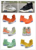 zapatillas de zoom venda por atacado-Com Caixa FOG Medo de Deus 1 Botas Sapatos de Grife de Moda FOG Botas Ao Ar Livre Preto Cinza Branco Zoom Sneakers Tamanho 5-12 shippment livre