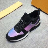 Wholesale new causal mans leather shoes white for sale - Group buy 2019 New Luxembourg Run Away Designer Shoes Monogram Rainbow Multicolor sneakers Plus Men Causal Shoes Size C09