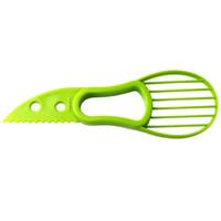 separador de frutas al por mayor-3-en-1 aguacate máquina de cortar de la fruta del cortador cuchillo corer Pulp separador de manteca de karité cuchillo de cocina Ayudante de cocina Accesorios Gadgets Herramientas RRA2832-4