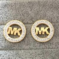 ingrosso prezzo delle donne degli orecchini dell'oro-Nuovi marchi di alta qualità Prezzo all'ingrosso Luxury CZ Diamond Designer Orecchini Ear Stud orecchino oro argento G Lettera in acciaio inox per le donne