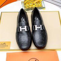 marca sapatos de festa homens venda por atacado-2020 Luxuoso Fundo harvanana Flats homens Slip-on dres sapatos designers marcas de negócios sapatos de festa de casamento homens moda mocassins