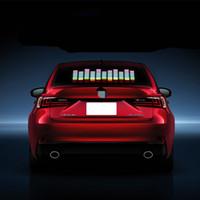 ingrosso gli autoadesivi di musica hanno condotto-Car Blue LED Music Rhythm Flash Light Sound Activated Sensor Equalizer Parabrezza posteriore Sticker Styling Kit lampada al neon