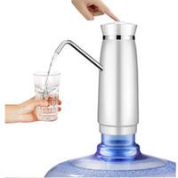 ingrosso pompa acqua da campeggio-Pompa facile Acqua alla bottiglia Distributore di acqua elettrico con batteria ricaricabile Bottiglie per acqua potabile Articoli da cucina 2Colori CWP001
