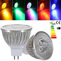 ingrosso 12v ha condotto le lampadine spot-Lampada a led ad alta potenza GU10 E27 B22 MR16 GU5.3 E14 3W 220V Faretto a LED Spotlight Faretto a LED Lampadina Downlight Illuminazione