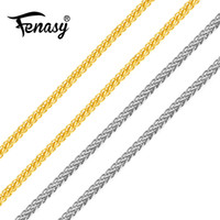 Wholesale costs chain resale online - FENASY Genuine K White Yellow Rose Gold Chain Cost Price Sale Pure K Gold Necklace for love Best Gift For women