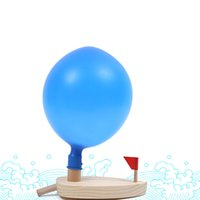 Wholesale baby water boat resale online - New Arrival Baby Balloon Powered Driven Water Boat Classic Toys Swimming Bath Toy Educational Early Development