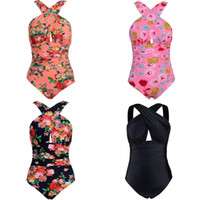 bauch bedeckt bikini großhandel-Übergroßer Sommer-Bikini für die Frauen, die sich überschneiden, beleuchten Badeanzug-Druck 7 Farben-Badebekleidung-multi Größen reizvolles bequemes 42gm D1