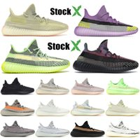 Wholesale angel shoes for sale - Group buy Kanye West trainers Black Angel yecheil Gid Glow Static Reflective running shoes mens women Clay True Form lundmark designer sports sneakers