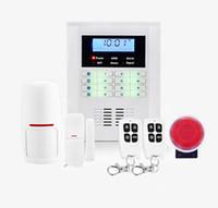 sms seguridad para el hogar al por mayor-Sistema de alarma inalámbrico de sistema de seguridad de doble banda para el hogar SMS GSM, sistema de alarma antirrobo, sensor de alarma de puerta