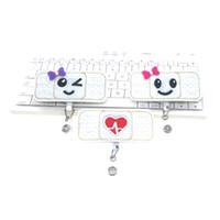 ingrosso bobine bianche-Porta-badge porta-badge RN Badge - ID Targhetta porta-badge Porta-mulinello - (colore bianco) Regalo perfetto per infermiere
